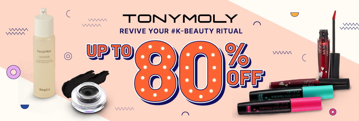 Tonymoly up to 80% off