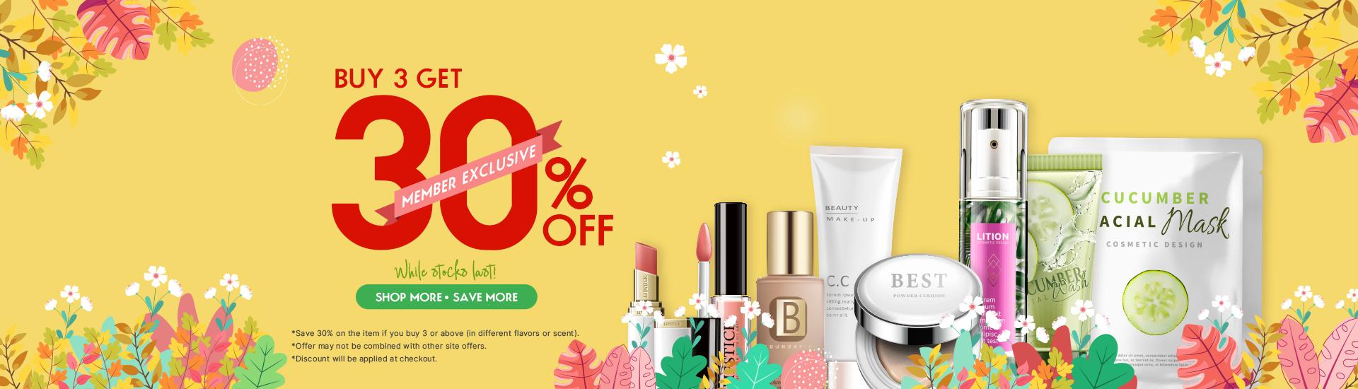Buy 3 Get 30% OFF