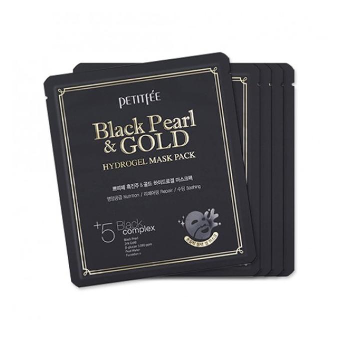 PETITFEE - Hydrogel Mask Pack - 5pcs - #Black Pearl & Gold