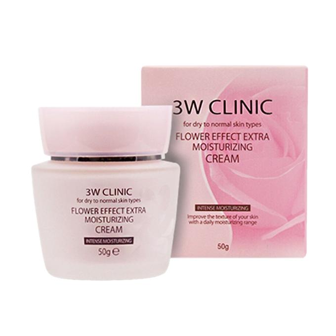 3W Clinic - Crème Extra Hydratante Effet Fleur
