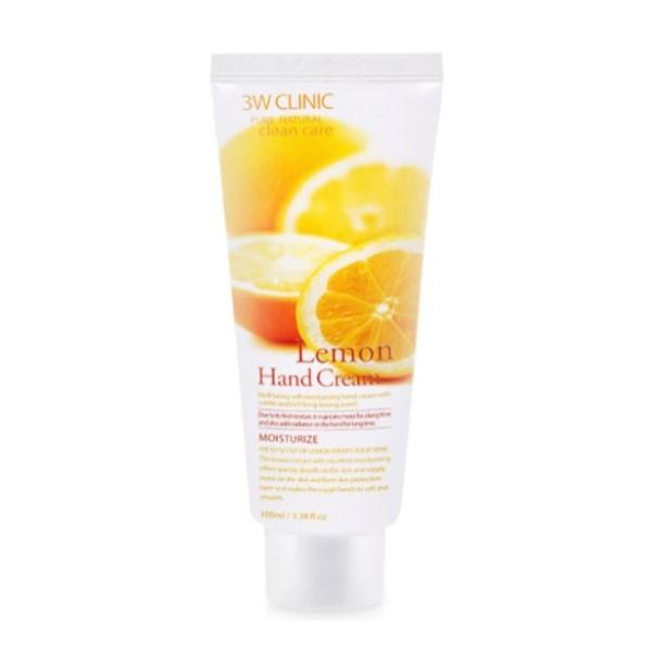 3W Clinic - Crème hydratante pour les mains au citron - 100ml
