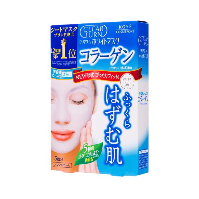 Kose - Clear Turn Masque blanchissant au collagène