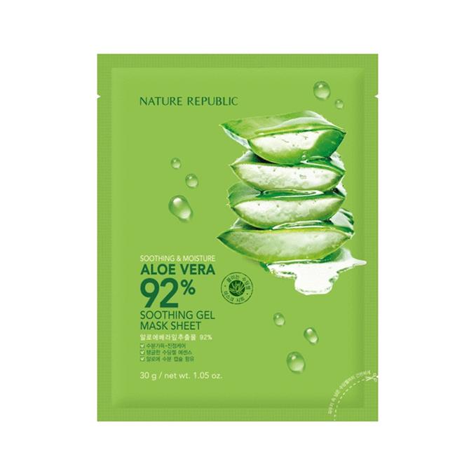 NATUREREPUBLIC - Soothing & Moisture Aloe Vera 92% Soothing Gel Mask Sheet