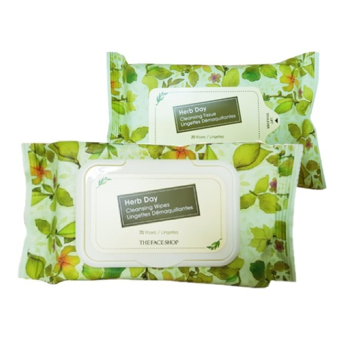 The Face Shop - Herb Day Cleansing Tissue