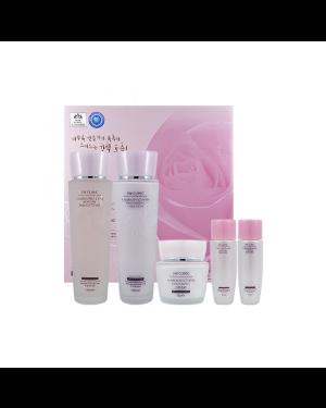 3W Clinic - Ensemble de 3 kits extra hydratants effet fleur - 1set(5items)