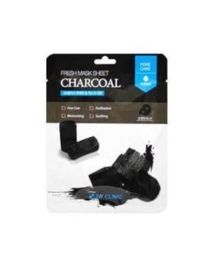 3W Clinic - Feuille de masque au charbon frais - 1pc
