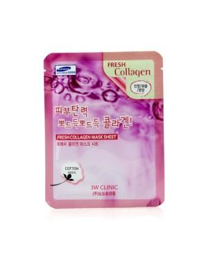 3W Clinic - Feuille de masque au collagène frais - 1pc