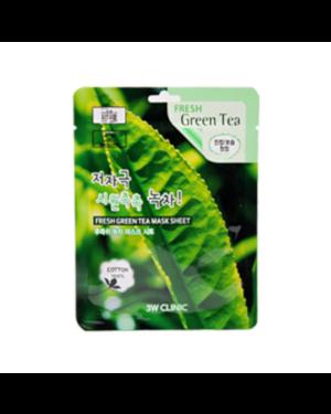 3W Clinic - Feuille de masque au thé vert frais - 1pc