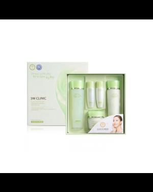3W Clinic - Ensemble de 3 kits de soins de la peau Snail Moist Control - 1set(5items)