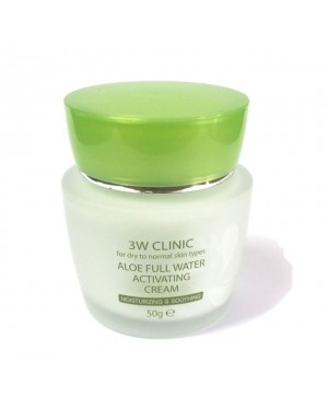 3W Clinic - Aloe Full Water Activating Cream - 50g