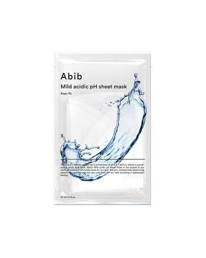 Abib - Masque en feuille de pH acide doux - Aqua Fit - 1pc