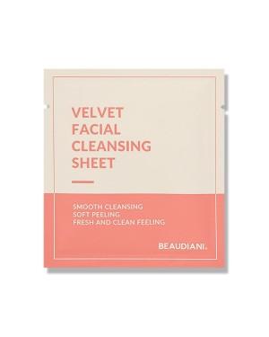 Beaudiani - Feuille de nettoyage pour le visage en velours - 20pcs