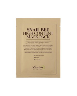 Benton - Snail Bee High Content Mask Pack - 1pc