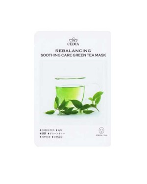 CEDIA - Rebalancing Soothing Care Green Tea Mask - 10pcs