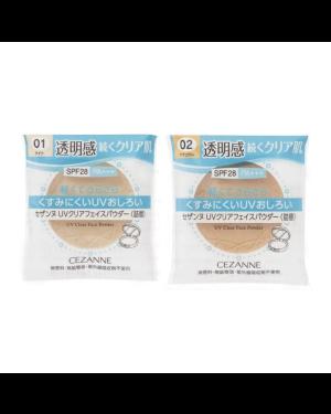 CEZANNE - Poudre transparente UV pour le visage (recharge) - 10g