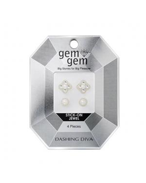 Dashing Diva - Nail Art Pearl Stone GEM01 - 4pcs