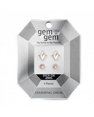 Dashing Diva - Nail Art Rhombus Stone GEM05 - 4pcs