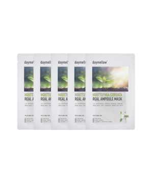 Daymellow - Houttuynia Cordata Real Masque ampoule - 27ml*5ea