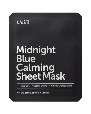 Dear, Klairs - Midnight Blue Calming Sheet Mask