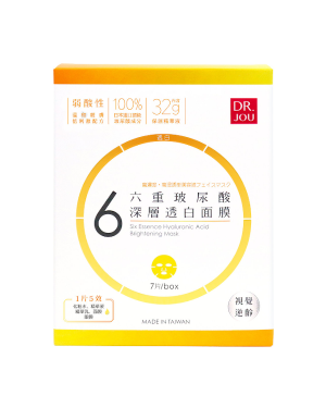 DR. JOU - Six Essence Hyaluronic Acid Brightening Mask - 7pcs