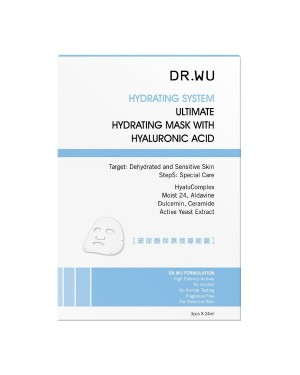 DR.WU - Ultimate Hydrating Mask With Hyaluronic Acid - 3PCS
