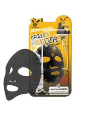 Elizavecca - Pack de masques de sonnerie Deep Power Black Charcoal Honey - 10pcs