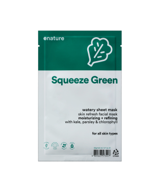 ENATURE - Squeeze Green Watery Masque de feuille - 1pc