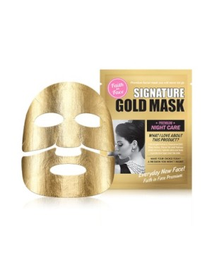Faith in Face - Signature gold mask -3 pcs