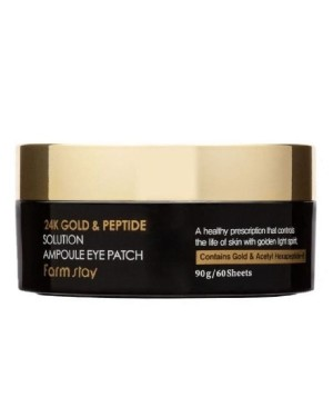 Farm Stay - 24K Gold & Peptide Solution Ampoule Eye Patch - 90g (60patches)