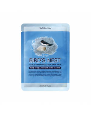 Farm Stay - Visible Difference Mask Sheet - Birds Nest Aqua - 1pc
