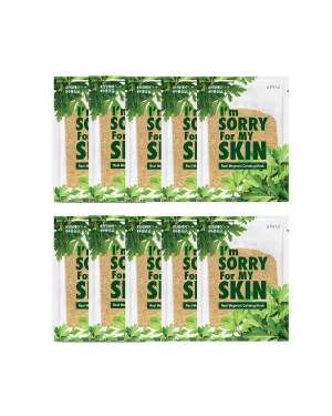 I'm Sorry For My Skin - Real Mugwort Calming Mask - 10pcs
