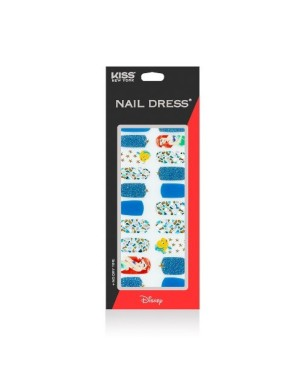 Kiss New York - Nail Dress (Disney Edition) The Little Mermaid - 24pcs