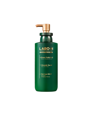 LABO-H - Shampooing Anti-Chute de Cheveux Green Probiotics - Anti-âge + Volume - 337ml