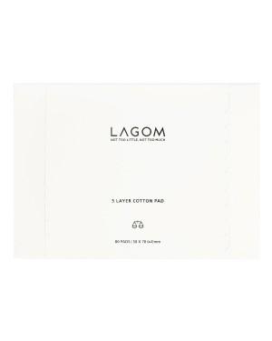 LAGOM - Tampon en coton à 5 couches - 80pcs