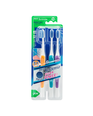 LION - Systema Super Soft Spiral Toothbrush - Random Colour - SS - 3pcs