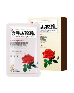 LOVEMORE - Feuille de masque de blanchiment Taiwan Rosa Hybrida - 5pcs