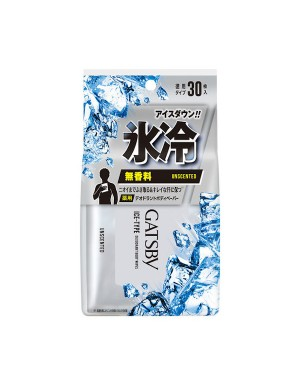Mandom - Gatsby - Ice Deo. Body Paper Unscented - 30pcs