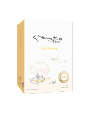 My Beauty Diary - Masque Royal Pearl Radiance - 8pcs