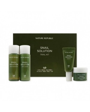 NATURE REPUBLIC - Snail Solution Trial Kit - 4pcs