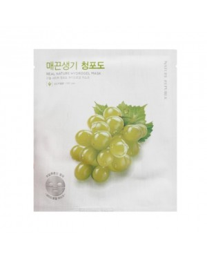 NATURE REPUBLIC - Real Nature Hydrogel Mask - Green Grape
