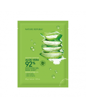 NATUREREPUBLIC - Soothing & Moisture Aloe Vera 92% Soothing Gel Mask Sheet
