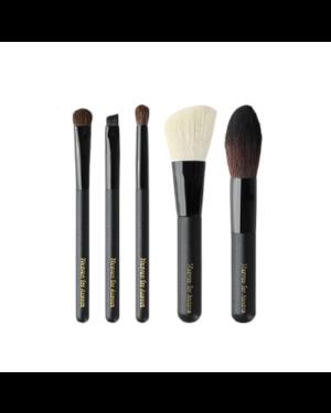 NUSVAN - Ensemble de pinceaux de maquillage - Noir - 5pcs