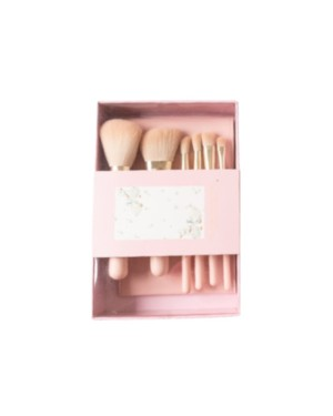 NUSVAN - Ensemble de pinceaux de maquillage (édition limitée) - Rose - 6pcs