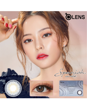 Olens - Spanish Circle 1 Month - Circle Gray - 2pcs