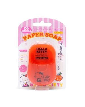 Other Sanitizers - Hello Kitty Portable Box Soap Paper - Apple Flavor - 50pcs