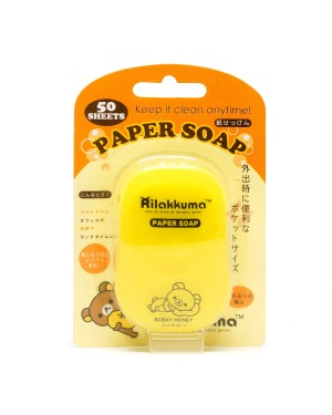Other Sanitizers - Rilakkuma Portable Box Soap Paper - Honey Flavor - 50pcs