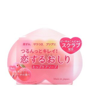 Pelican Soap - Peach Scented Exfoliate Whitening Hip Care Soap - 80g