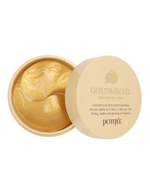 PETITFEE - Gold & Snail Hydrogel Eye Patch - 60pcs