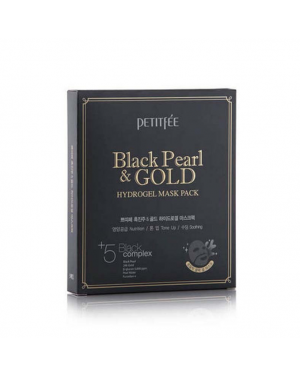 PETITFEE - Hydrogel Mask Pack - 5pcs - #Black Pearl & Gold