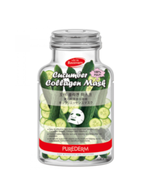 PUREDERM - Cucumber Collagen Mask-B - 10pcs